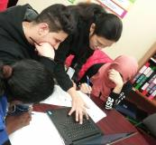 Another important theme recently covered is 'Financial Literacy'.  With the help of our volunteers, students learned how to budget and shop smart.
